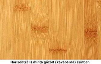 Horizontális bambusz minta gőzölt színben