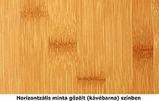 Horizontális gőzölt bambusz mintázat