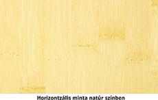 Horizontális natúr bambusz mintázat