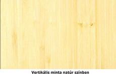 Vertikális natúr bambusz mintázat