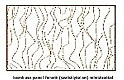 Bambusz panel fonott mintával