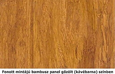 Fonott, gőzölt bambusz mintázat