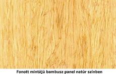 Fonott, natúr bambusz mintázat