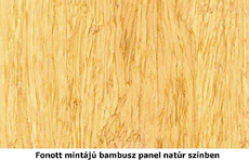 Fonott natúr bambusz minta