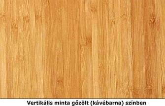 Vertikális bambusz minta gőzölt színben