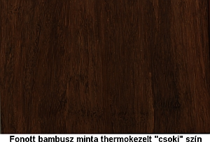 Fonott bambusz panel - Thermo