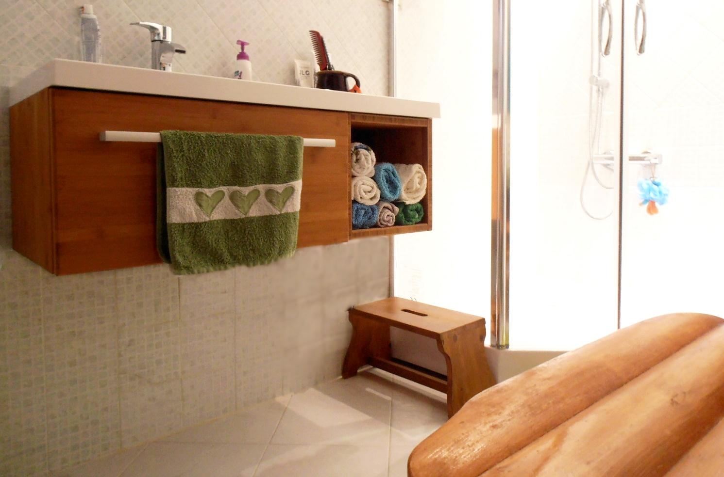 MINIMAL - bambusz fürdőszoba bútor, kávébarna
