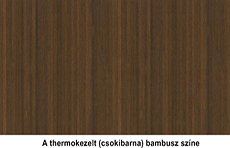 Thermokezelt bambusz panel