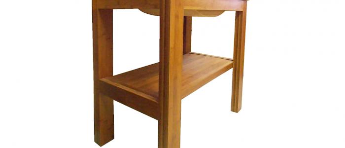 Loft bambusz fürdőszoba bútor