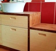 Fjord bambusz fürdőszoba bútor