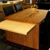 PLUS - nagyobbítható lapú bambusz étkező asztal, kávébarna / natúr
