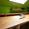 WORK - bambusz íróasztal bambuszrúd lábbal, kávébarna