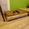 Bambusz asztal nyugágyhoz, natúr