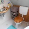 Bambusz WC-hátfal, kávébarna